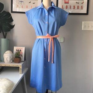 VTG•Blue Shirt Dress